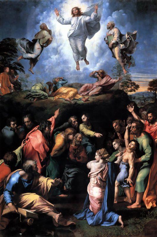 Transfiguration - Gemälde von Raffael und Sebastiano del Piombo