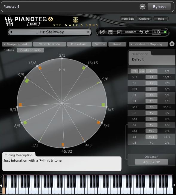Pianoteq - Microtuning